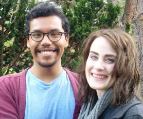 Esau Mora and Aleah Zimmer
